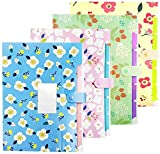 Skydue Floral Printed Accordion Document File Folder Expanding Letter Organizer 4-PACKS