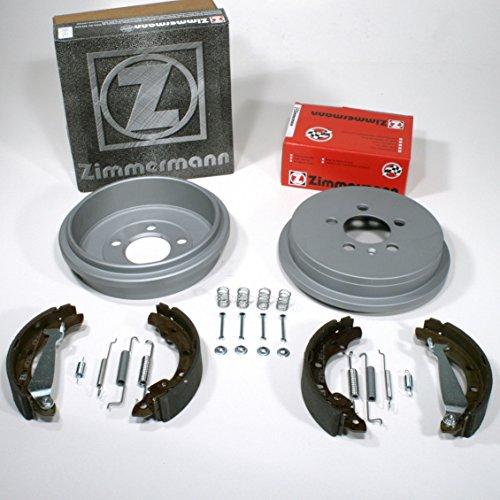Zimmermann Bremstrommeln Coat Z + Bremsbacken + Zubehör für hinten/für die Hinterachse