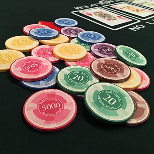 Fichas Poker Ceramica con Numeros Marca Yclty