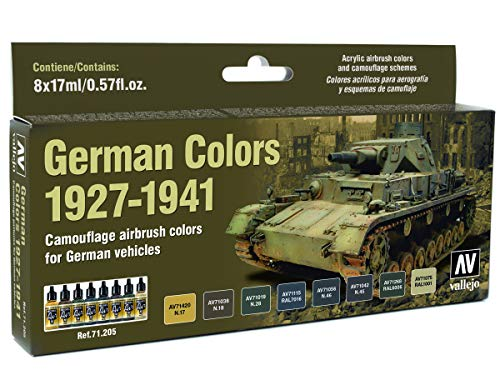 Vallejo Model Air AFV Set 71205 German WWII Colors 1927-1941 (8)