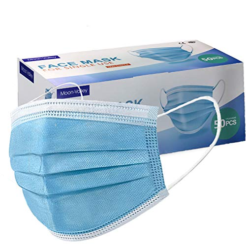 50 Stück Einwegmaske 3 lagig Mundschutz Masken Gesichtsgesundheitsschutz Staubmasken Outdoor Einweg Maske