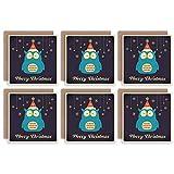 Wee Blue Coo Christmas Cards 6 Pack - Cute Owl Bird Snowflake Set Xmas Cards Cristo Linda Pájaro Nieve