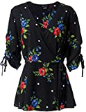 City Chic Women's Apparel Women's Plus Size 00201022, Floating Bouquet, Large