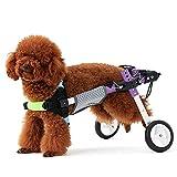Rungao Kit de traction pour fauteuil roulant 2 roues pour chien handicapé avec support abdominal...