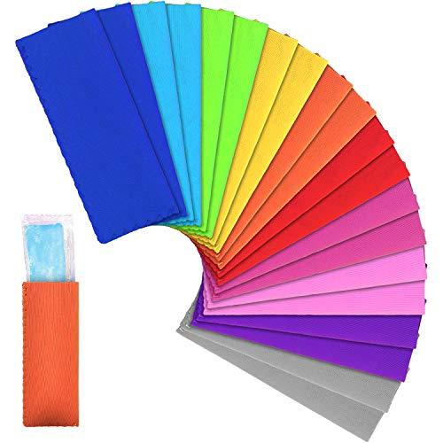 LUTER 20 Stück Ice Pop Sleeves Bpa-Frei Neoprenstoff Kalt Isoliert Wiederverwendbar Tropfenfrei Popsicle Holder Bag Für Kinder Getränke Sommerparty