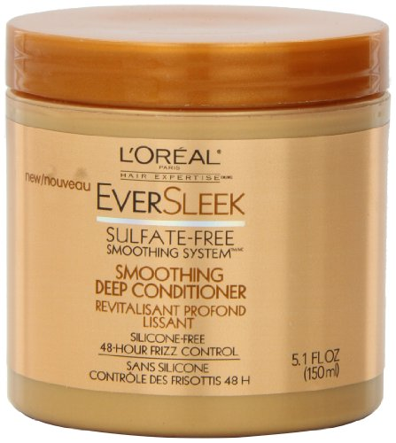 L'Oreal Paris EverSleek Sulfate-Free Smoothing System Smoothing Deep Conditioner, 5.1 Fluid...