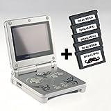 Nintendo Game Boy Advance SP tribal & 5 Zufallsspiele (inkl. Ladekabel) -
