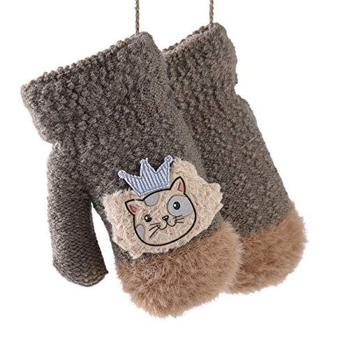 Handschoenen voor fiets, warm, schattig, modieus, velours, voor meisjes, dik, cartoon-handschoenen