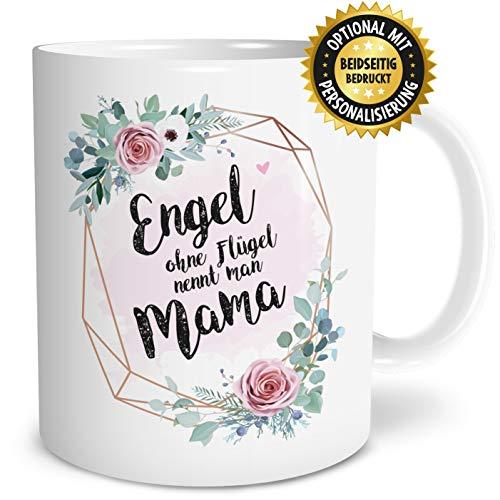 OWLBOOK Engel Mama Große Kaffee-Tasse mit Spruch im Geschenkkarton Geschenke Geschenkidee Muttertag Muttertagsgeschenk Mutti Mütter