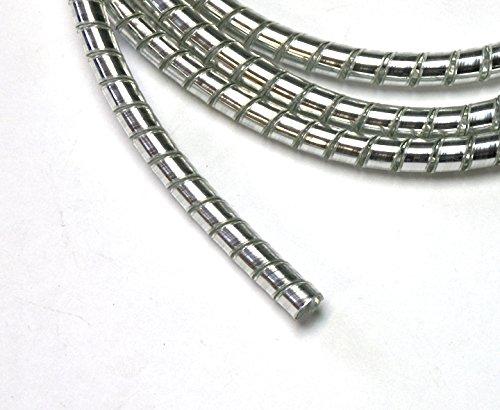 Drag Specialities Cromado Espiral Cable Envolvente/Cable Organizador - 6mm