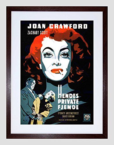 AD MOVIE FILM FLAMINGO ROAD DANISH RELEASE JOAN CRAWFORD FRAMED PRINT B12X6376