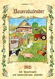 Bauernkalender - Kalender 2021 - Alpha-Edition-Verlag - Wandkalender mit bezaubernden Illustrationen und Platz zum Eintragen - 24 cm x 33,8 cm - Spiralbindung