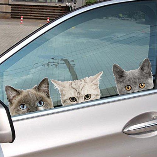 Viviance Waterdichte Leuke 3D Kat Hond Auto Stickers Muurstickers