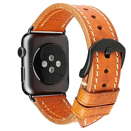 【and Vacation】イタリアン 本革 Apple Watch 上質 柔らか バンド 38 40 42 44mm 最高級 ライチ柄 替え ベルト シリーズ1 2 3 4 5 6 7 SE 対応 男性向け 大人 おしゃれ かっこいい ギフト 2021年