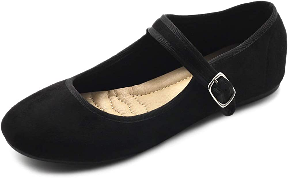Ollio Women's Shoes Faux Suede Sales of SALE items from new works Casual Ballet Mary Light Jane Max 49% OFF Fla