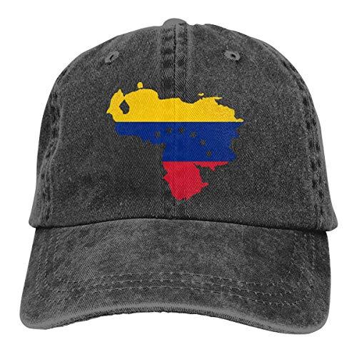 XCNGG Hombres 's/Mujeres' Mapa de la Bandera de Venezuela Gorra de béisbol de Mezclilla teñida con Hilo Sombrero Ajustable