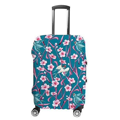 Verdickte waschbare Aquarell-Kirschblüten, Polyester-Fasern, elastisch, faltbar, leicht, Reisekoffer-Schutz