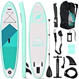 Tablas Paddle Surf, Paddle Surf Hinchable Tabla Surf Set 300x76x15cm Carico di 150kg Sup Kit con Remo de Aluminio + Bomba +Accesorios Completos (Tipo A Verde)