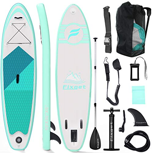 Tablas Paddle Surf, Paddle Surf Hinchable Tabla Surf Set 300x76x15cm Carico di 150kg Sup Kit con Remo de Aluminio + Bomba +Accesorios Completos (Tipo A Verde)