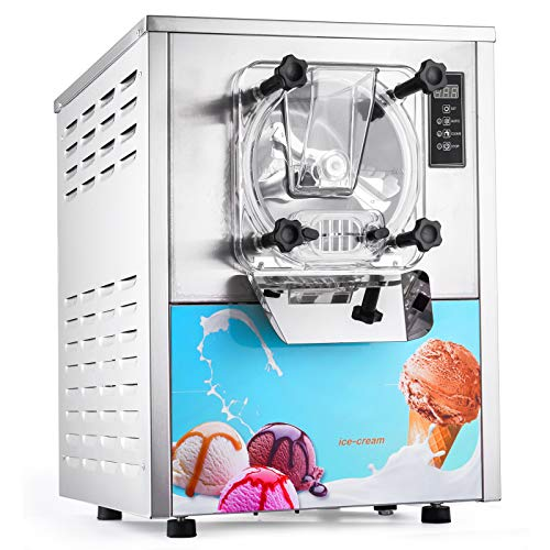 Happybuy 1400W Commercial Hard Ice Cream Machine 20/5.3Gallon Per Hour Perfect for Restaurants Snack...