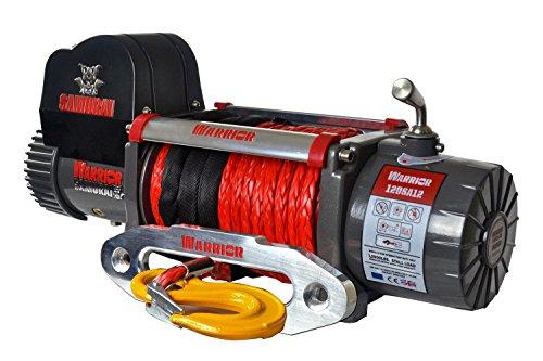 Elektrische Seilwinde Warrior Samurai S12000 5,4 t 12 V Kunststoffseil