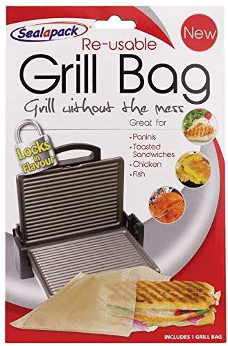 Homespired® 2 x återanvändbar grillväska perfekt för paninis rostade smörgåsar kycklingfisk – lätt att rengöra och mindre problem