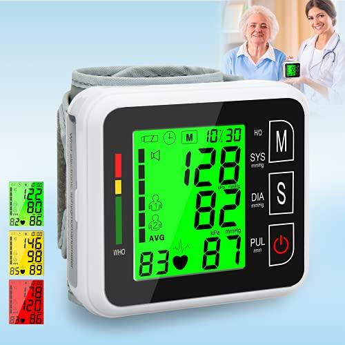 Atrilly Blood Pressure Monitor Wrist Cuff Digit High Blood Pressure Cuffs Monitor for Home Use Automatic Wrist Blood Pressure Cuff Monitor Wrist BP Cuff Automatic Adult Monitor Machine Wrist