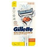 Gillette SkinGuard Sensitive - Afeitadora con tecnología Flexball para pieles sensibles de hombre + 2 cuchillas de repuesto