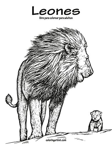 Leones libro para colorear para adultos 1