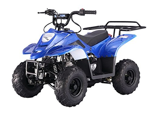 X-PRO 110cc ATV Quad Youth ATVs Quads 110cc 4 Wheeler ATVs Kid Size ATV 4 Wheelers ,Blue