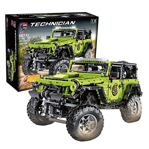 DXX Juego de construcción para coche Jeep Wrangler Adventurer, 2343 piezas, 1:8, para todoterreno, compatible con Lego Technic