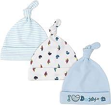 LACOFIA Sombrero de Beanie de algodón para bebé niñas y niños de recién Nacido Unisex Gorro Nudo de Las bebé de Esencial 3 Piezas