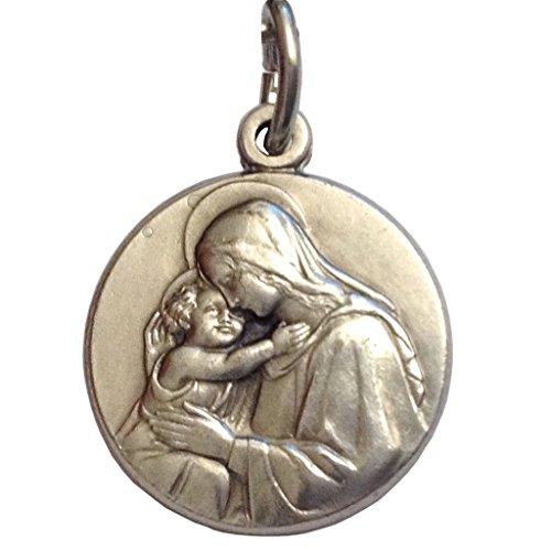 Medalla de la Virgen con Niño- La Medallas De Los Patronos