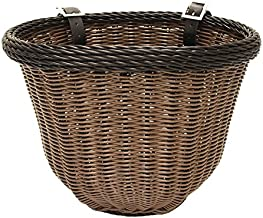 Colorbasket Adult Front Handlebar Bike Basket - Brown with Black Trim