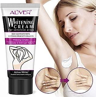 Underarm Whitening Cream, Natural Lightening & Brightening Deodorant Cream Armpit Whitening Body Creams Underarm Repair Between Legs Knees Private Part 60ml