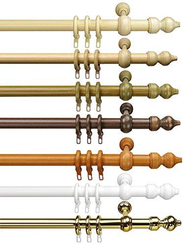 Garduna Klassische Gardinenstange   Eiche-rustikal 120cm   Vorhangstange   Ø 28mm   viele Farben & Größen