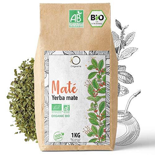 ☘️ BIO YERBA MATE 1 KG | Grüner Mate Tee, Blätter, Ungeröstet, ohne Stängel und nicht pulvrig | Energie und Detox Getränk