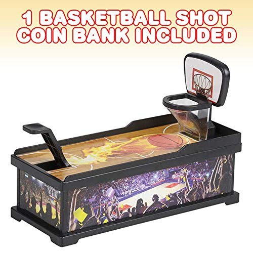 ArtCreativity Basketball Shot Coin Bank for Kids, Fun Money Savings Piggy Bank for Loose Change, Cool Office Desk Sports Decoration, Best Birthday Gift for Boys and Girls