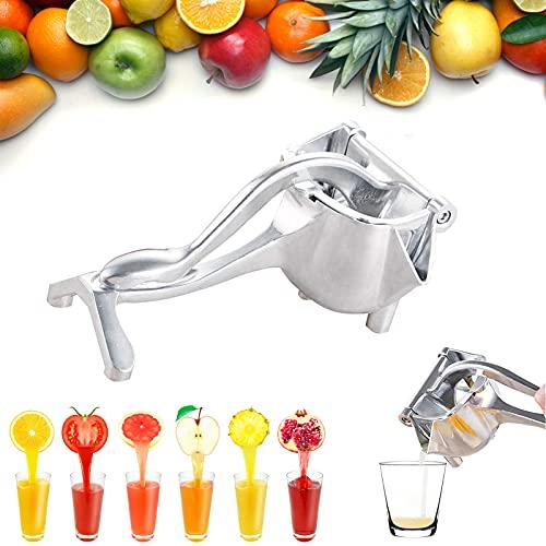 Alloy Lemon Squeezer Manual Juicer Stainless Steel Lemon Orange Juicer Heavy Duty Hand Press Fruit Juicer Extractor Fruit and Vegetable Juicer (1 PACK)
