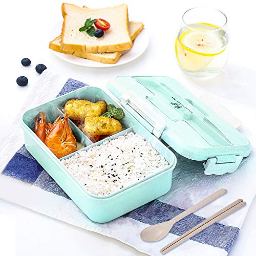 Gxhong Lunch Bento Box 1000 ml Fiambrera con 3 Compartimento