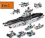 ML Set de Juego de Construcción y Montaje 8 en 1 – Juguete para Montar Vehículos y Coches Desmontables – Juguete Bloques de construcción Mini Ladrillos