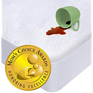 iLuvBamboo Crib Mattress Pad Protector (Mom's Choice Gold Award Winner) Waterproof Cover -Soft Bamboo Jacquard Fitted Topper – Quiet, Breathable & Smooth -Potty Training Toddlers & Infants Baby Gifts