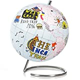 SUCK UK Small Globe Journal - Cuaderno de globo terráqueo