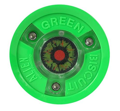 Green Biscuit ALIEN LED leucht Trainingspuck f. Eishockey, Hockey Puck Asphalt