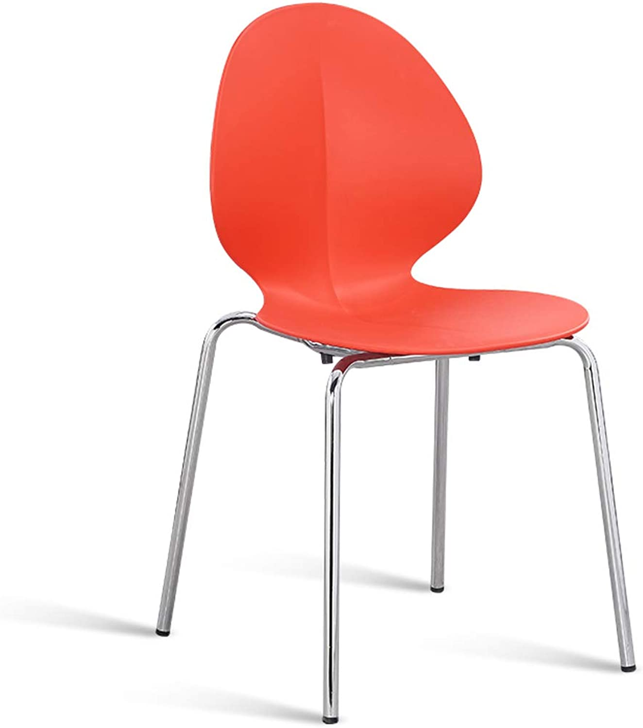 LRW Nordic Iron Backrest Chair, Red Household Iron Leg Dining Chair, Milk Tea Shop Stool,