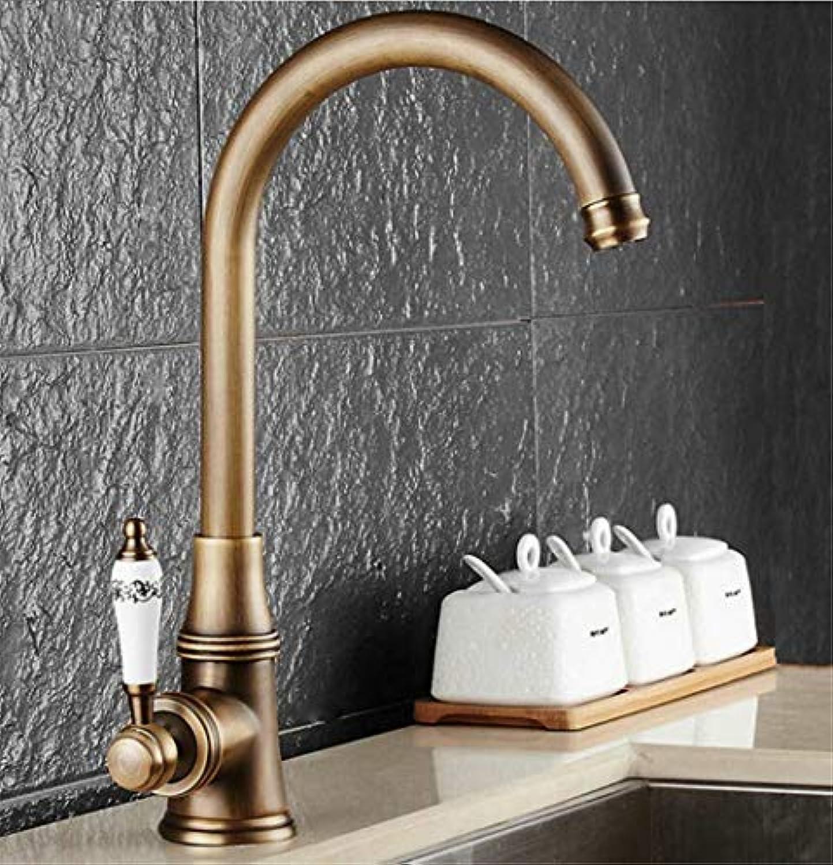 Küchenarmatur Antike Gebürstetem Porzellan Griff Wasserhahn Hei Kaltmischer Becken Wasserhahn Luxus Wasserhahn 360 Swivel 9098
