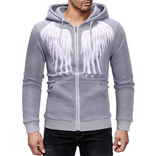 Herren Sweatshirt Wings Printed Plus...