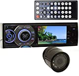 pkg Soundstream VR-345B in-Dash 1-DIN 3.4' LCD Screen DVD Stereo Receiver with XO Vision Backup Camera with Nightvision