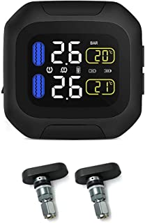 Nicemeet Tpms System M3 TPMS Motorcycle Tire Pressure Monitoring System, Super Waterproof Sun Protection, for Two-Wheeled Motorcycle