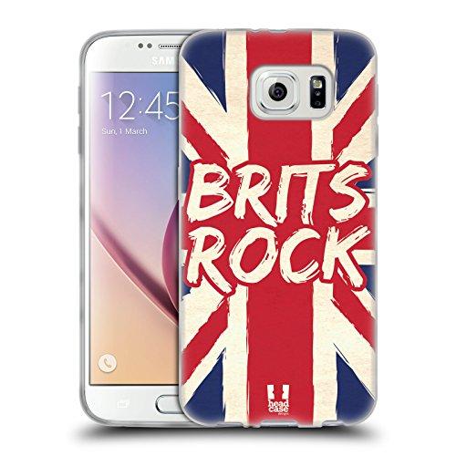 Head Case Designs Brits Rock Orgoglio Inglese Cover in Morbido Gel e Sfondo di Design Abbinato Compatibile con Samsung Galaxy S6